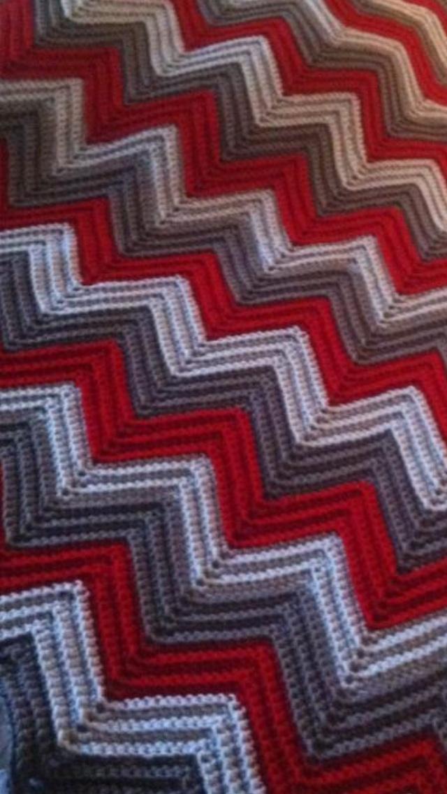 Ananth S Razorback Chevron Blanket Crochet Pinterest