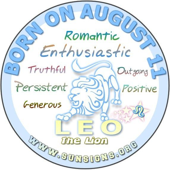August 11 Birthday Horoscope Personality » Sun Signs