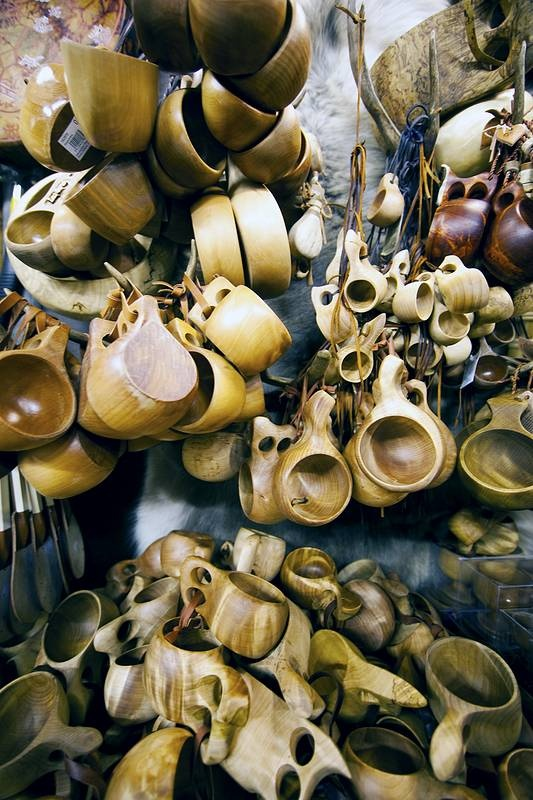 Guksi (Kuksa) (handmade camping cup). Invented by Sami people of northern Scandinavia.