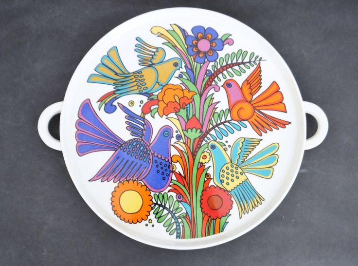 Villeroy & Boch Acapulco Vtg Mid Century Modern Serving Tray Platter Plate Retro