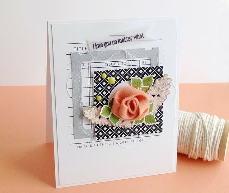 No Matter What Card by Danielle Flanders for Papertrey Ink (February 2014)