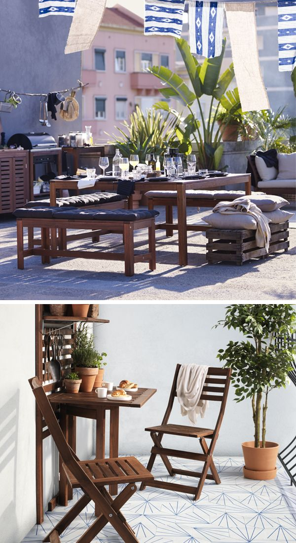 Spend The Summer In Great Outdoors Right Your Own Backyard Find Everything You Need From Ikea Outdoor Furniture To Decorative Lighting