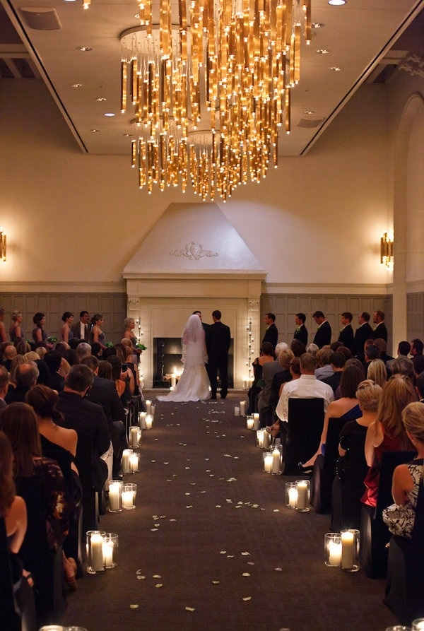 Best 25 wedding aisle candles ideas on pinterest winter wedding romantic ceremony at the w chicago junglespirit Gallery