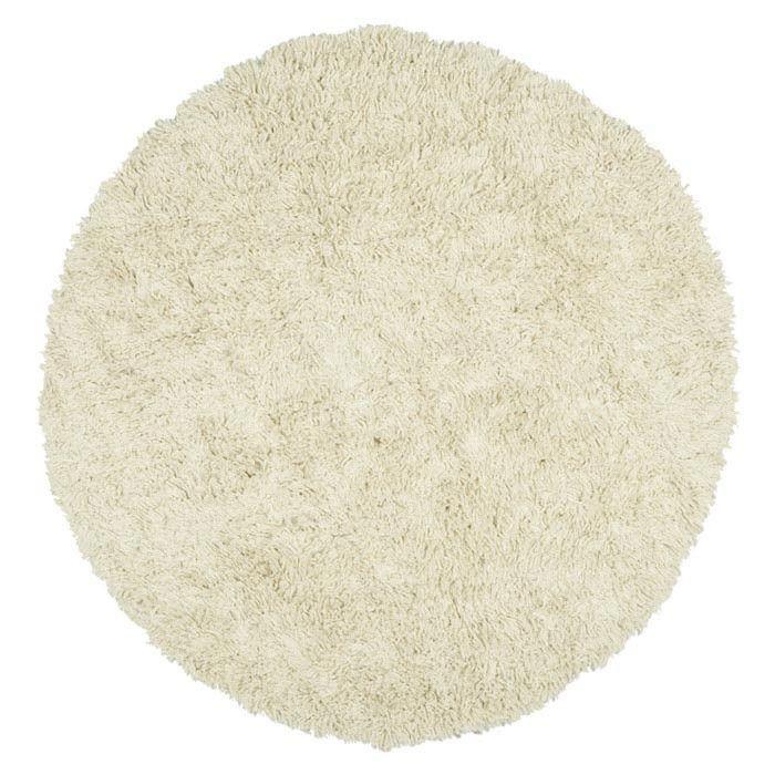 Malibu White Shag Area Rug