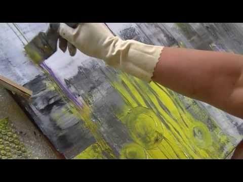 Acrylmalerei abstract acrylic speed painting kurze Fassung - YouTube
