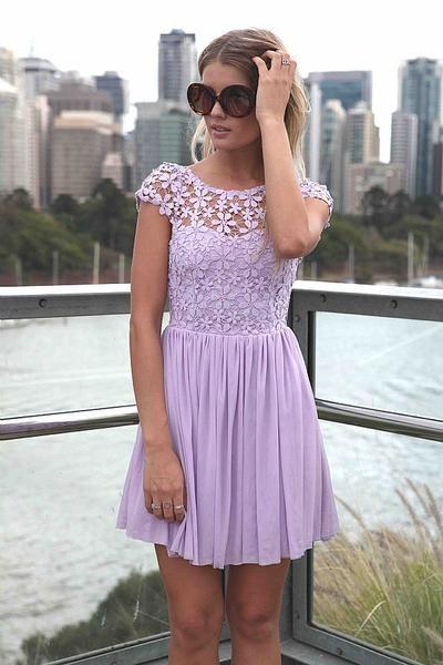 lavender colored dress