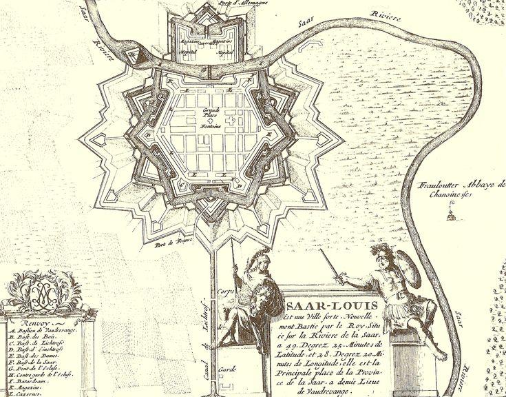Old Map of Saarlouis