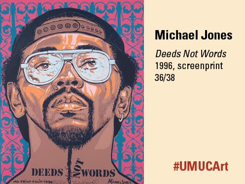 1996 screenprint from Michael Jones. #UMUCArt