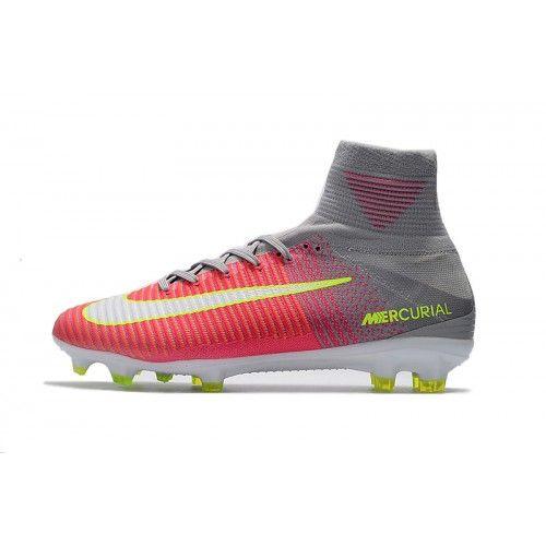 Nike Mercurial - Beste 2017 Nike Mercurial Superfly V FG Roze Grijs Voetbalschoenen