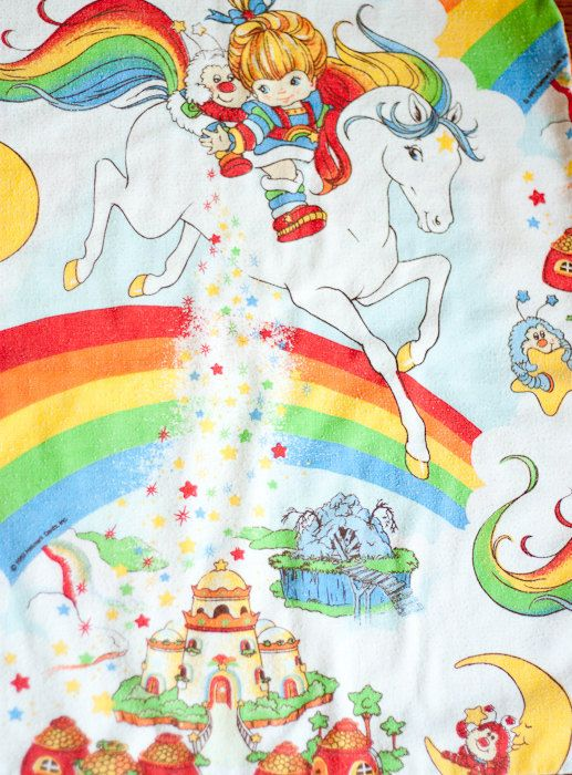 Vintage Rainbow Brite pillow case, 1983...I totally had this set.