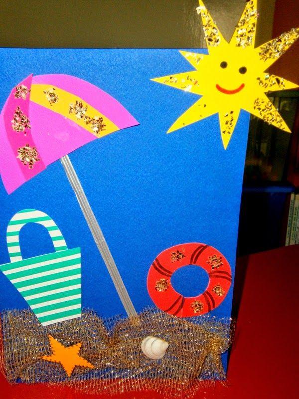 Beach Craft Ideas For Kids Part - 36: Summer Craft Idea For Kids