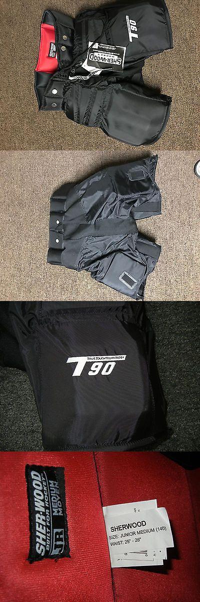 Other Hockey Goalie Equipment 79765: Sher-Wood T90 Jr. Junior Ice Hockey Goalie Pants M Medium 25-26 -> BUY IT NOW ONLY: $75 on eBay!