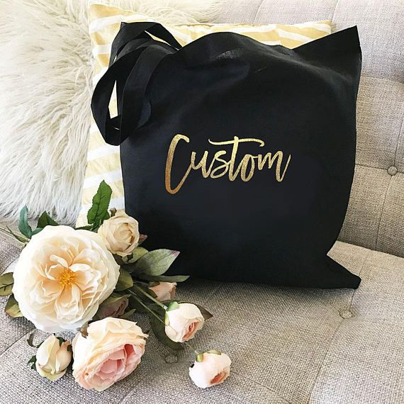 Custom Tote Bags  Personalized Tote Bags for Bridesmaid Tote