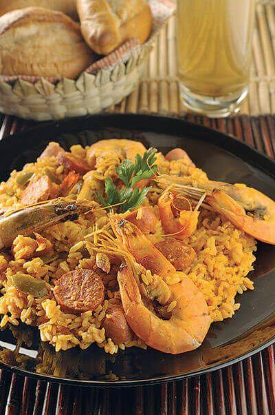 Un arroz tipo paella, para mí y para toda la familia.