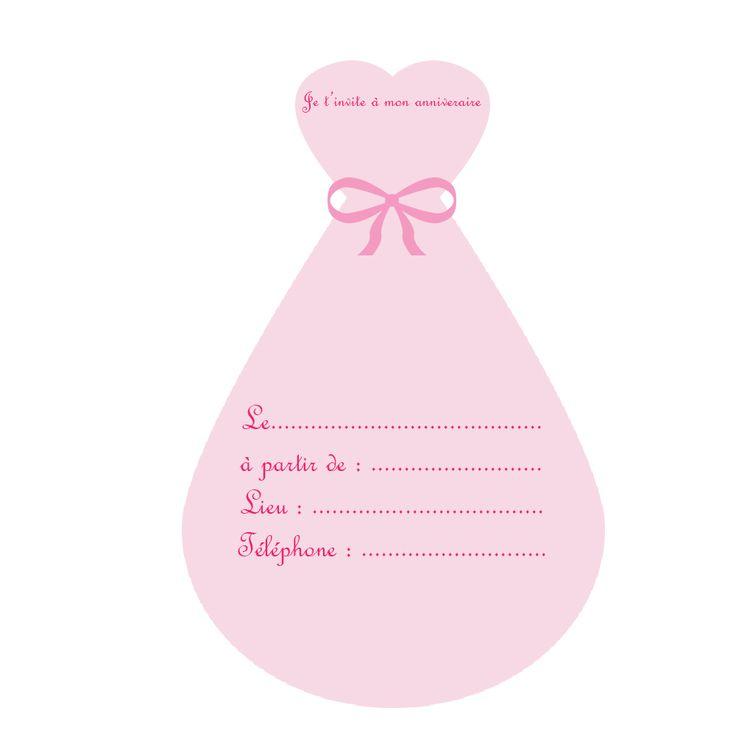invitation-robe-princess-anniversaire-la-fabricamania- a imprimer-gratuit
