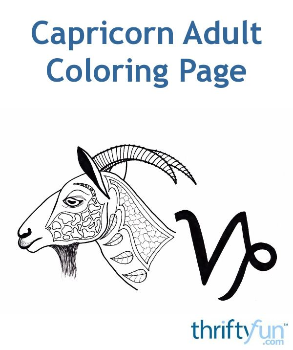 Capricorn or the mountain goat is the zodiac sign for persons born between December 22 and January 19.  #coloring #adultcoloring #zodiaccoloring