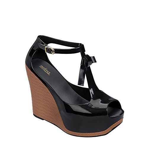 c85ac135a32a Melissa Womens Peace VI Wedge Sandal Black Size 6   You can get additional  details at