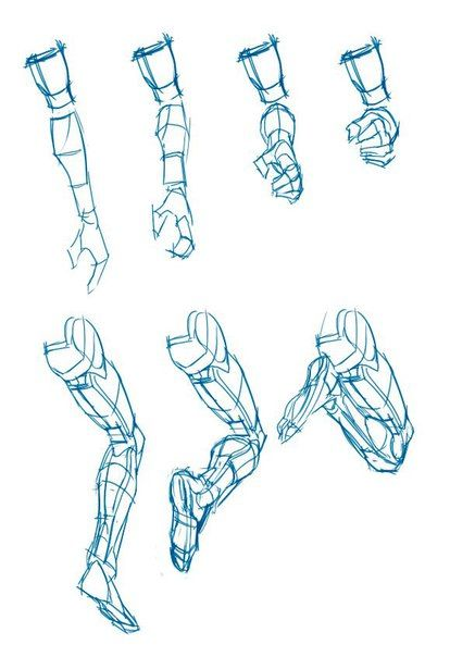 how to draw fake arm muscles