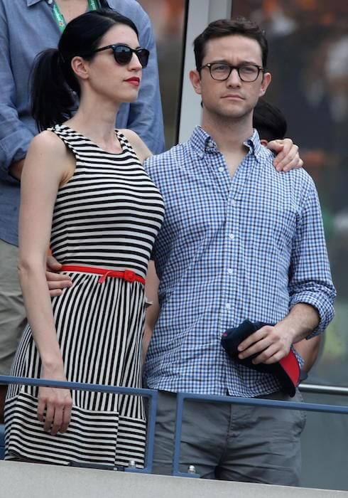 Joseph Gordon-Levitt with wife Tasha McCauley at the 2014 U.S. Open...