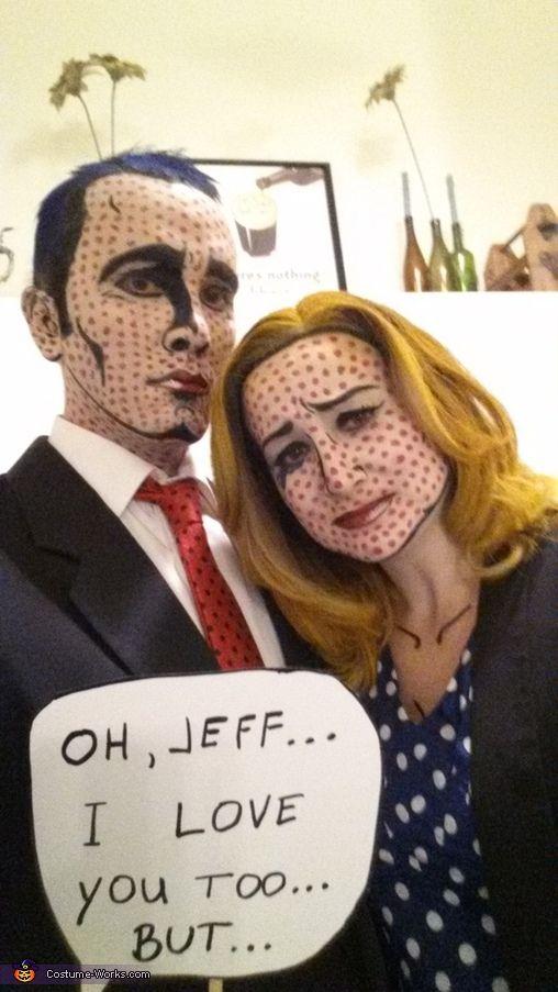 Lichtenstein Pop Art Couple's Halloween Costume Idea