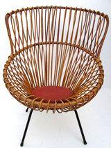 margherita chair with metal legs by Franco Albini for Vittorio Bonacina thumbnail 4
