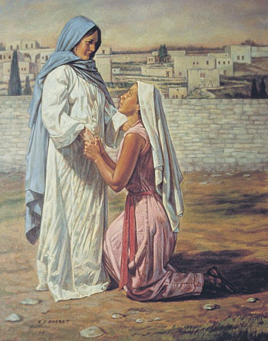 Ruth Pledges Loyalty to Naomi. So, let me get this straight....the one from the nations stands with the daughter of Israel, which puts her in the perfect place and time to marry her kinsman redeemer?  Cool.