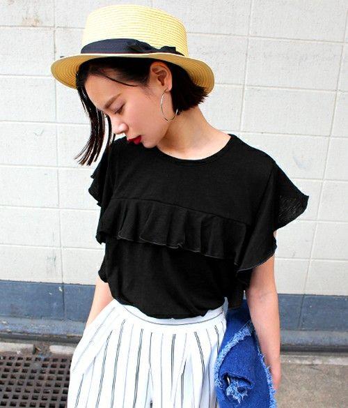 袖フリルPO(Tシャツ/カットソー)|ANAP(アナップ)のファッション通販 - ZOZOTOWN