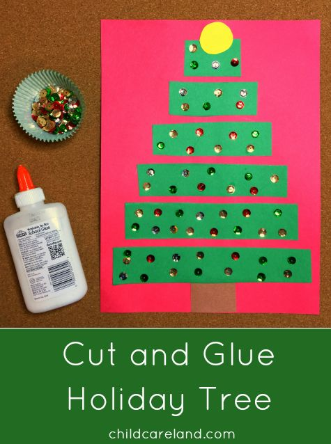 Cut and Glue Holiday Tree ... great for fine motor and scissor skills.