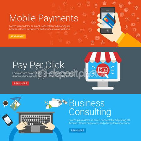 Flat Design Concept. Set of Vector Illustrations for Web Banners. Mobile…