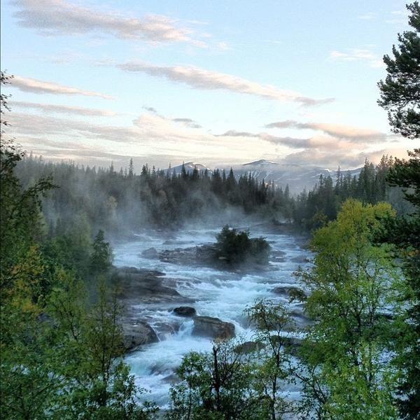 Photo taken from the window of #Kvikkjokk Fjällstation #Sweden #Nature