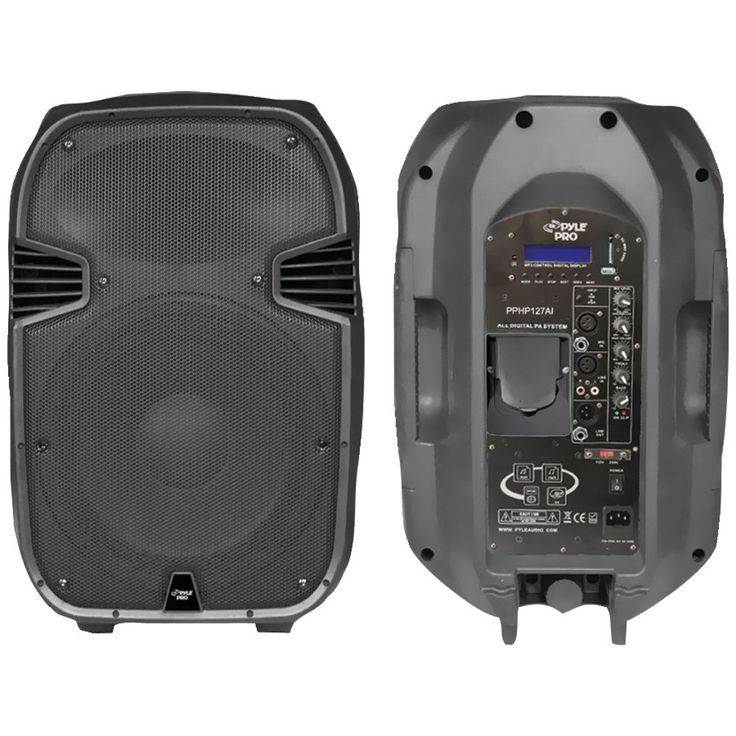 PYLE PRO PPHP127AI 1,200-Watt Powered 2-Way Full Range PA Speaker with iPod(R) Dock