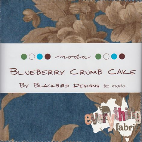 Blueberry Crumb Cake...an oldie but a goodie! http://www.everythingfabric.com.au/shop/category/fabric-by-specialty-cut/charm-packs/