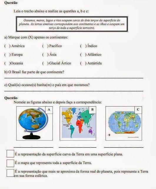 Educar X: Atividades de geografia 4° ano do ensino fundamental