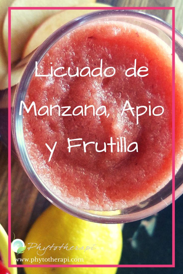 El Licuado de Manzana, Apio y Frutilla es saludable, refrescante y puede comer mientras que estés en nuestro programa de pérdida de peso o el de la diabetes. Para ver esta y otras recetas  saludables, visita nuestro blog.
