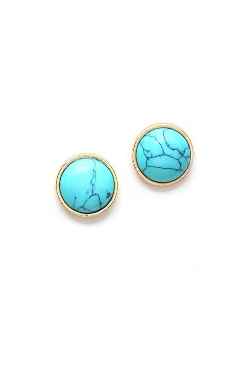 Dottie Earrings in Turquoise Howlite