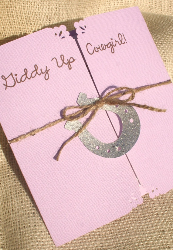cowgirl birthday party invitations love this idea also