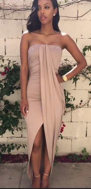 Sexy Strapless Backless sheave Dress - Oh Yours Fashion - 2