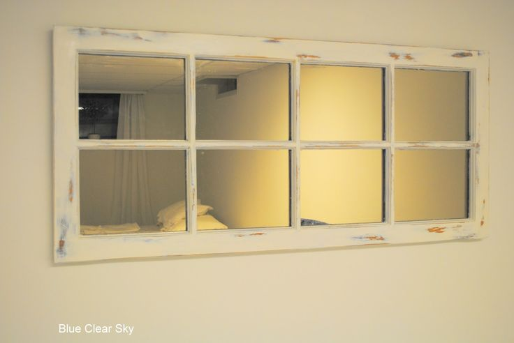 for basement guest bedroom - gives a window look