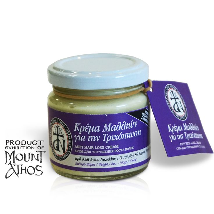 Mount Athos Anti Hair Loss cream that enhances hair growth, stops hair loss and gives you healthy and strong hair. Κρέμα μαλλιών για την τριχόπτωση που  ἐνισχύει τήν τριχοφυία και σταματάει τήν τριχόπτωση.  #mount #athos #mtathos #holymountathos #cream #waxcream #beeswaxcream #cream #hairloss #hairgrowth monastery #handmade #monks #crafts #shop #athonite #life #orthodox #christianity