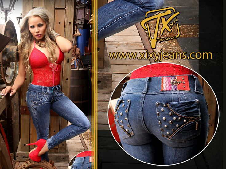Jean para mujer con pedrería. Tela stretch, levanta cola y bota tubo. Jeans colombianos #jean #denim #moda #ropa #look #Clothing #outfits #woman #Ripped
