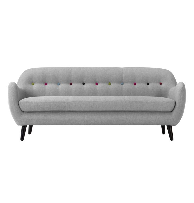 ORIGINAL Christian Rudolph-Christiansen Retro Curved 3 Seater Sofa - Matt Blatt