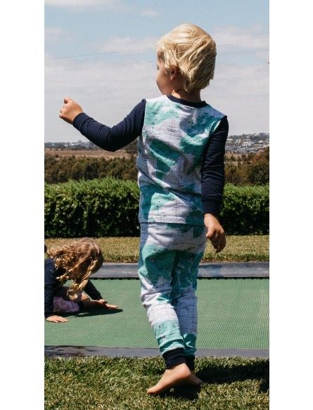 Milky World Map PJ'S Sleepwear Boys Sleepwear www.rollercoasterkids.com.au