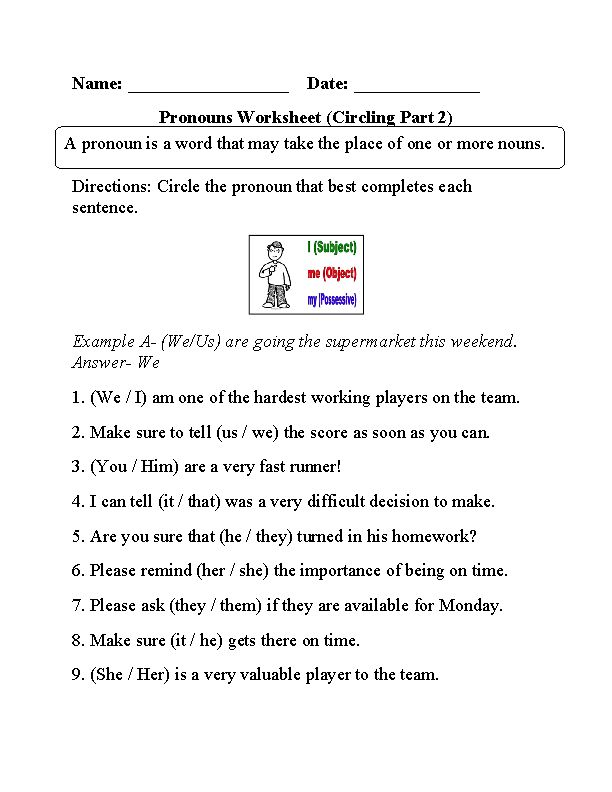 Englishlinx.com | Pronouns Worksheets