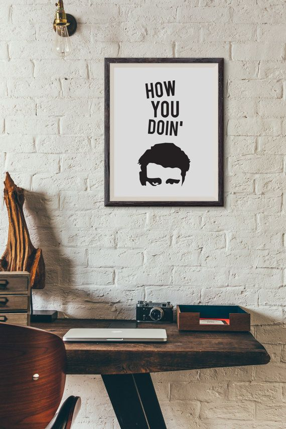 Joey Tribbiani - How You Doin' : Wall Decor Typography Print Funny Quote Poster