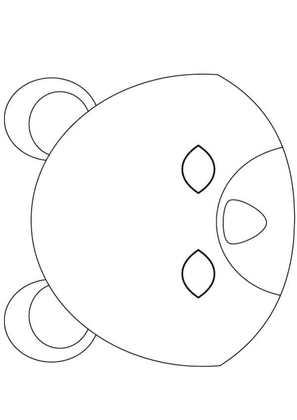 Bear Mask Template Choice Image - Template Design Ideas