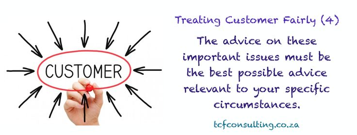 Treating Customer Fairly (4) suitable advice