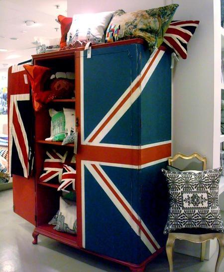 Union Jack wardrobe/armoire Brit tastic. all things union jack