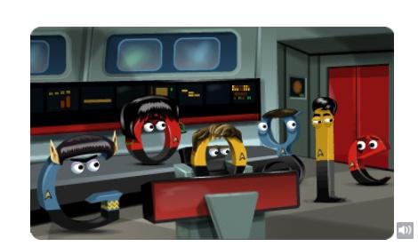 Star Trek: un Doodle per il 46.o anniversario della serie classica inserito nel pomeriggio