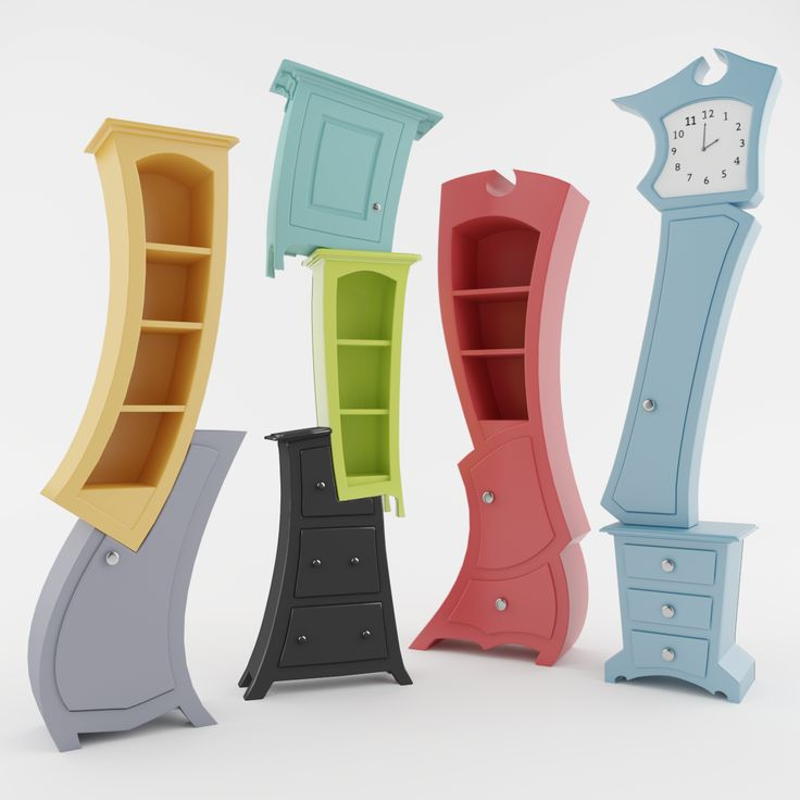 3D collection of this original and creative furniture will surely enrich your scenes.