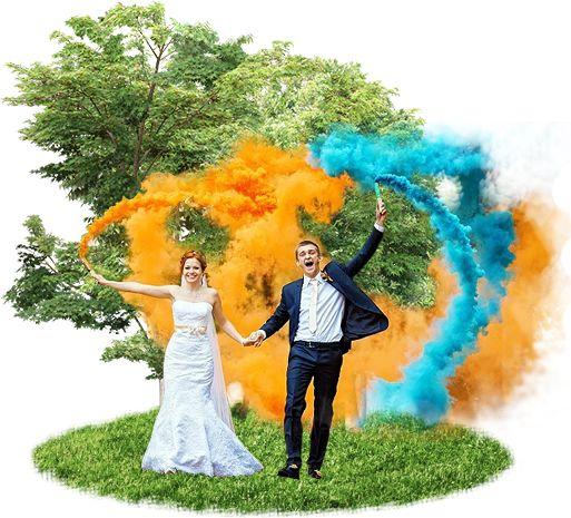 Заказать цветные дымовые факелы, цветной дым, цветные дымовые шашки